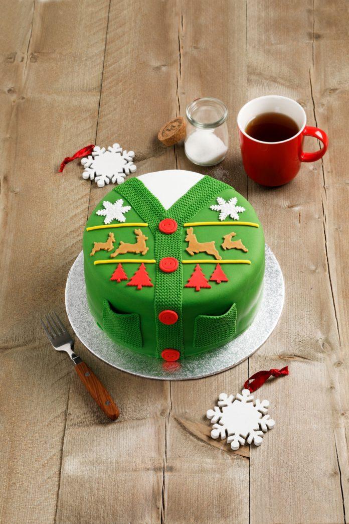 15 dec foute kerst trui taart